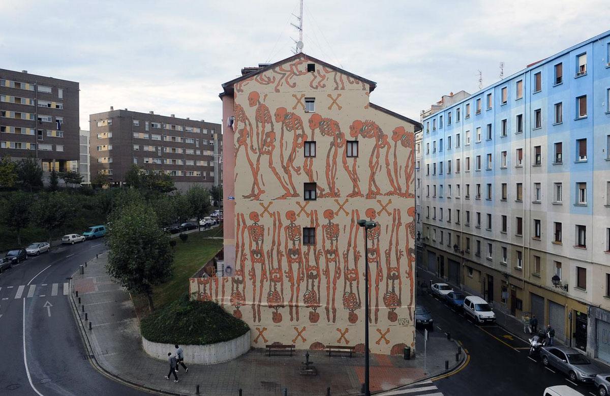 """""""El fin justificado"""" Mural. Bilbao 2015."""