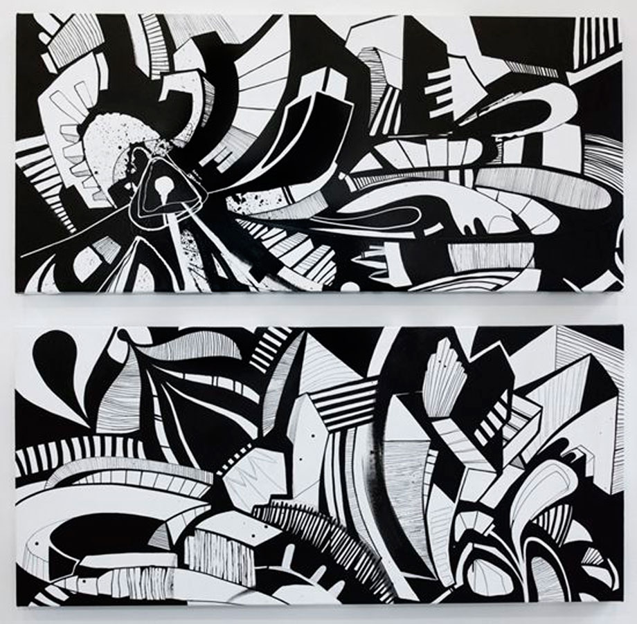 Diptych. Acrylic on canvas.70x140cm.2010