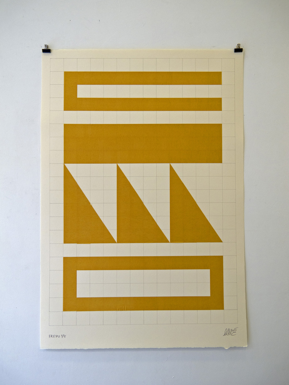 """Eredu-Confetti 2/5"" Mix media on paper ( Super-Alfa) 76x112 cm. 2011"