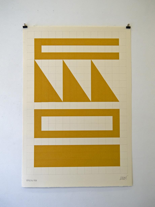 """""""Eredu-Confetti 3/5"""" Técnica mixta sobre papel (Super-Alfa) 76x112 cm. 2011"""
