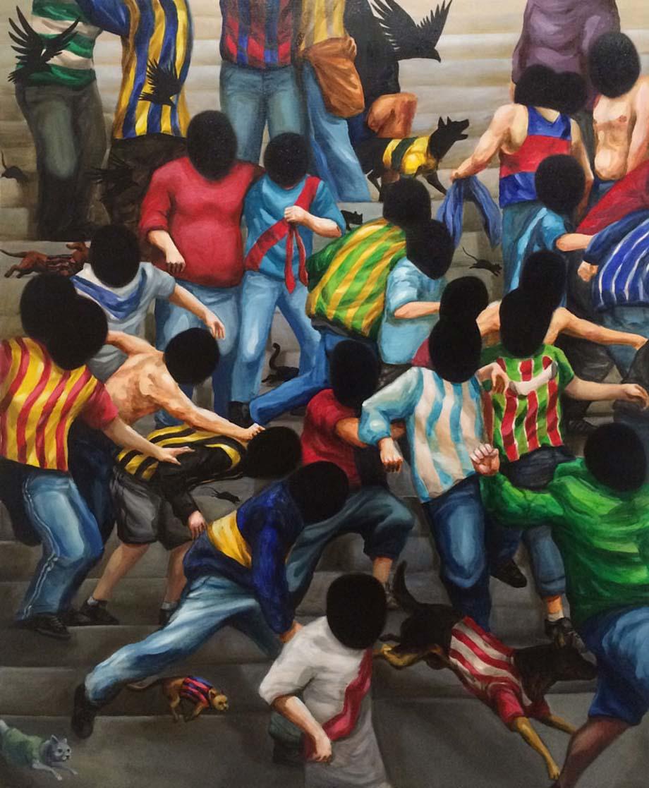 """Franco Fasoli JAZ """"El color de tu nombre"""" 2016 Acrylic on canvas. 100 x 81cm."""