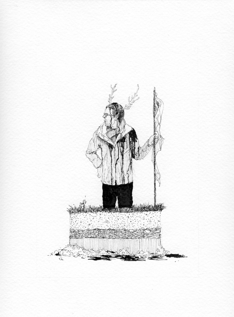 """""""Ofrendas al publico 1"""" Serie . Tinta sobre papel. 24x18cm"""
