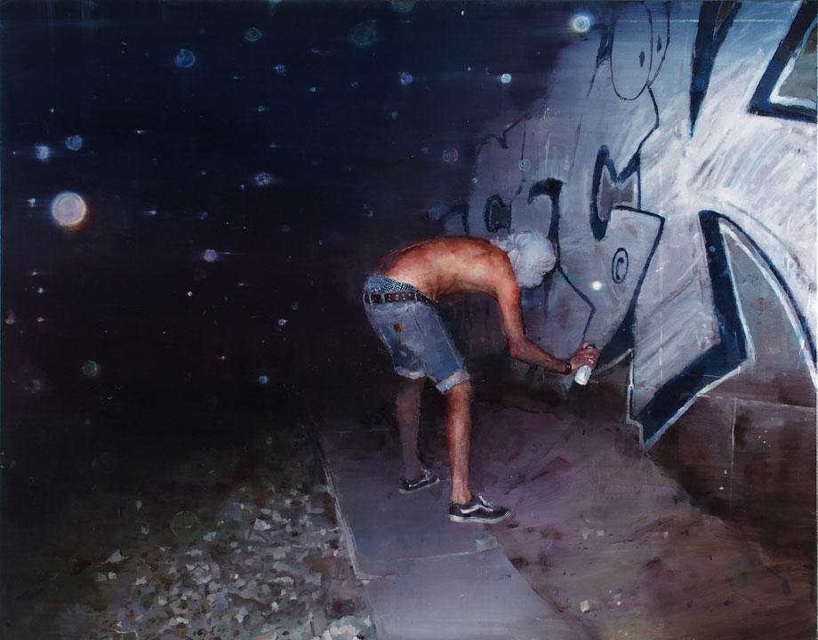 "Sebas Velasco ""Tunel kod Beton Hale"" 114x146cm. Oil on canvas"