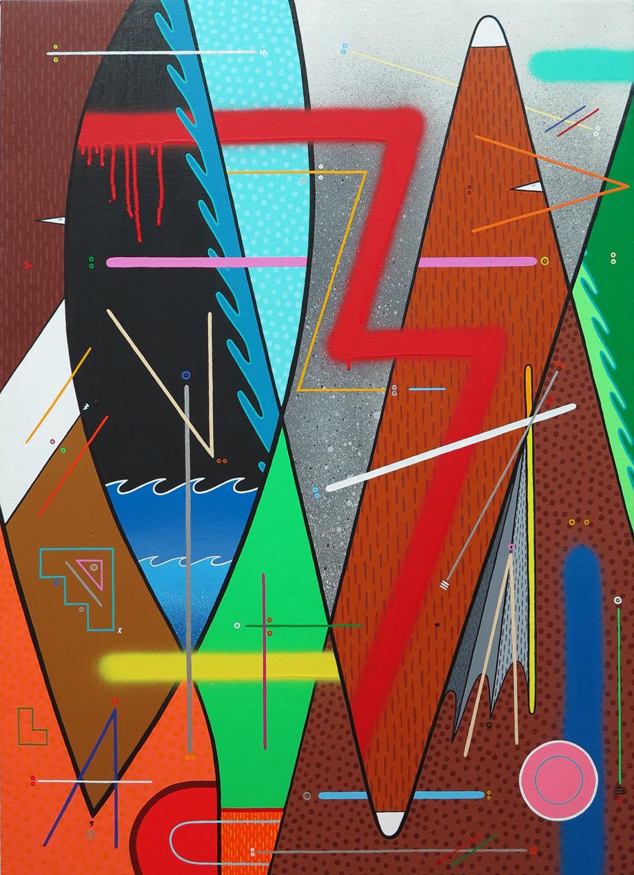 """""""naturaleza abstracta 03"""" Acrílico sobre tela. 73x100cm."""