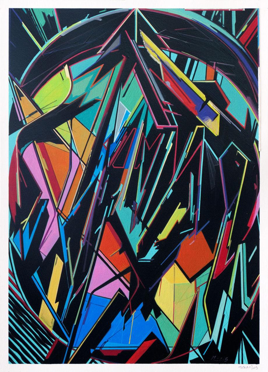 OnePaper 01, 2015 Óleo sobre papel 42×29,7 cm.