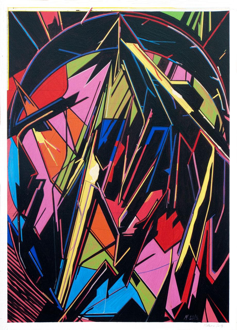 OnePaper 02, 2015 Óleo sobre papel 42×29,7cm