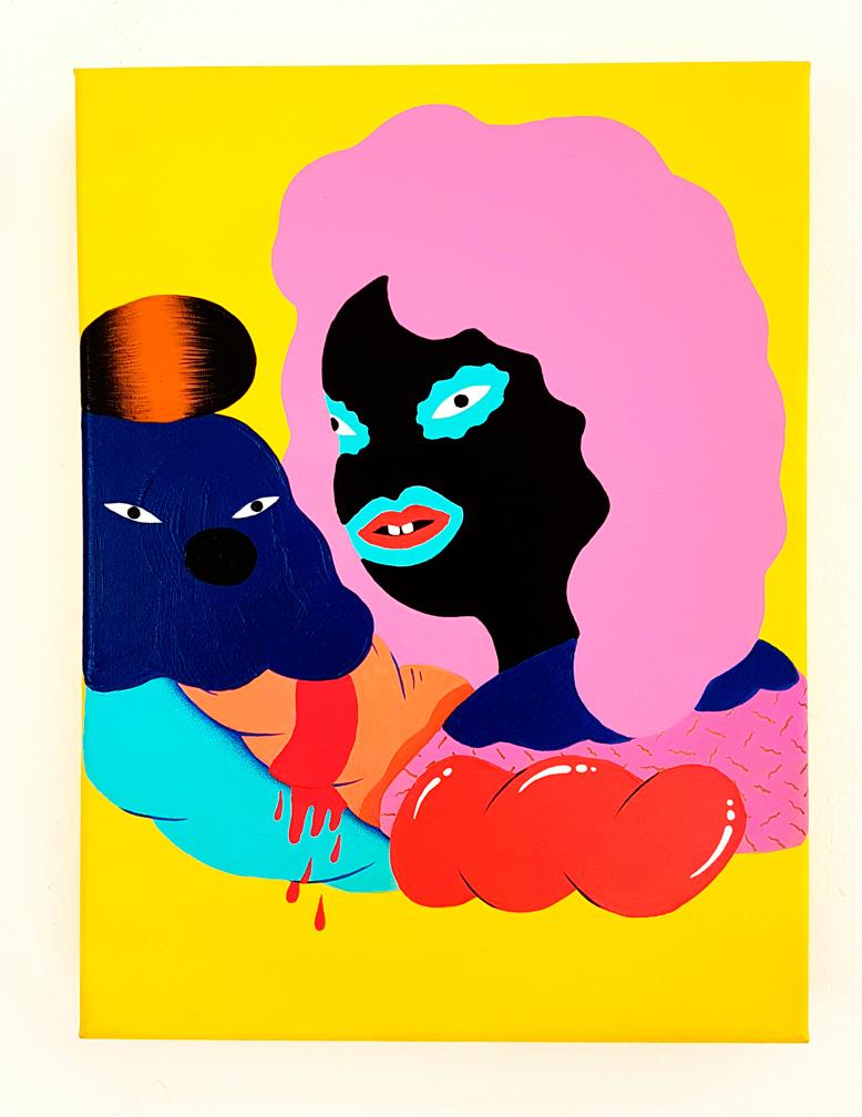 """""""CONVERSACIÓN EFÍMERA"""" Acrylic on canvas 40 X30,5 CM. 2016."""