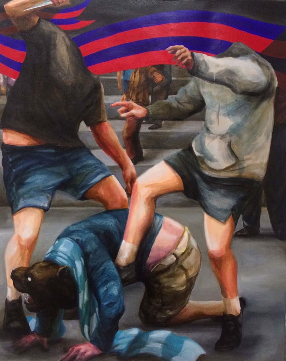 """Franco Fasoli JAZ """"Caca de Gos"""" 2016 Oleo sobre tela. 100 x 81cm."""