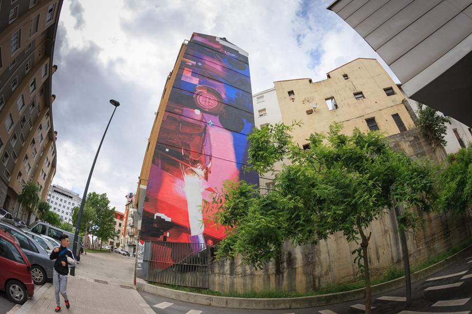 """ZOER & VELVET """"Spindle"""". Mural 2016. Bilbao"""