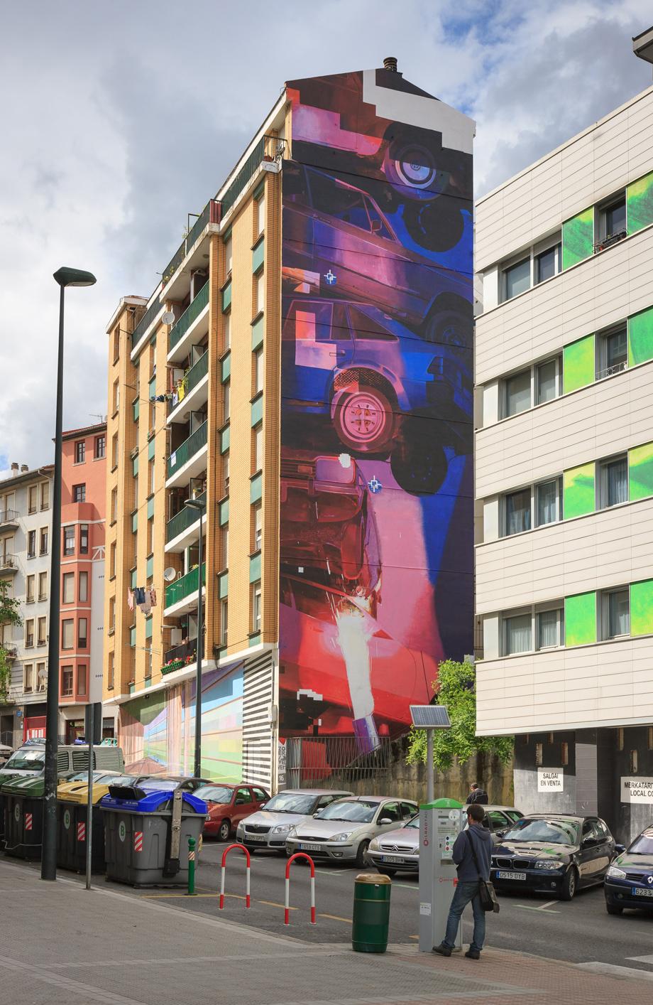 "ZOER & VELVET ""Spindle"" Mural. 2016. Bilbao. SC Gallery + ArtManagement . BlvArt."