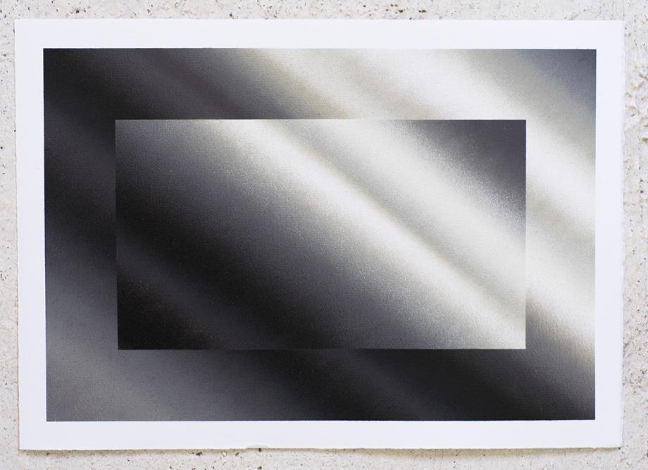"""Dynamichrome 4"" Spray acrylic on paper 240gr.42x29,7cm. 2015"