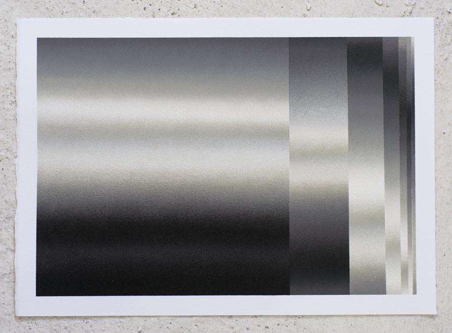 """Dynamichrome 3"" Spray acrylic on paper 240gr.42x29,7cm. 2015"