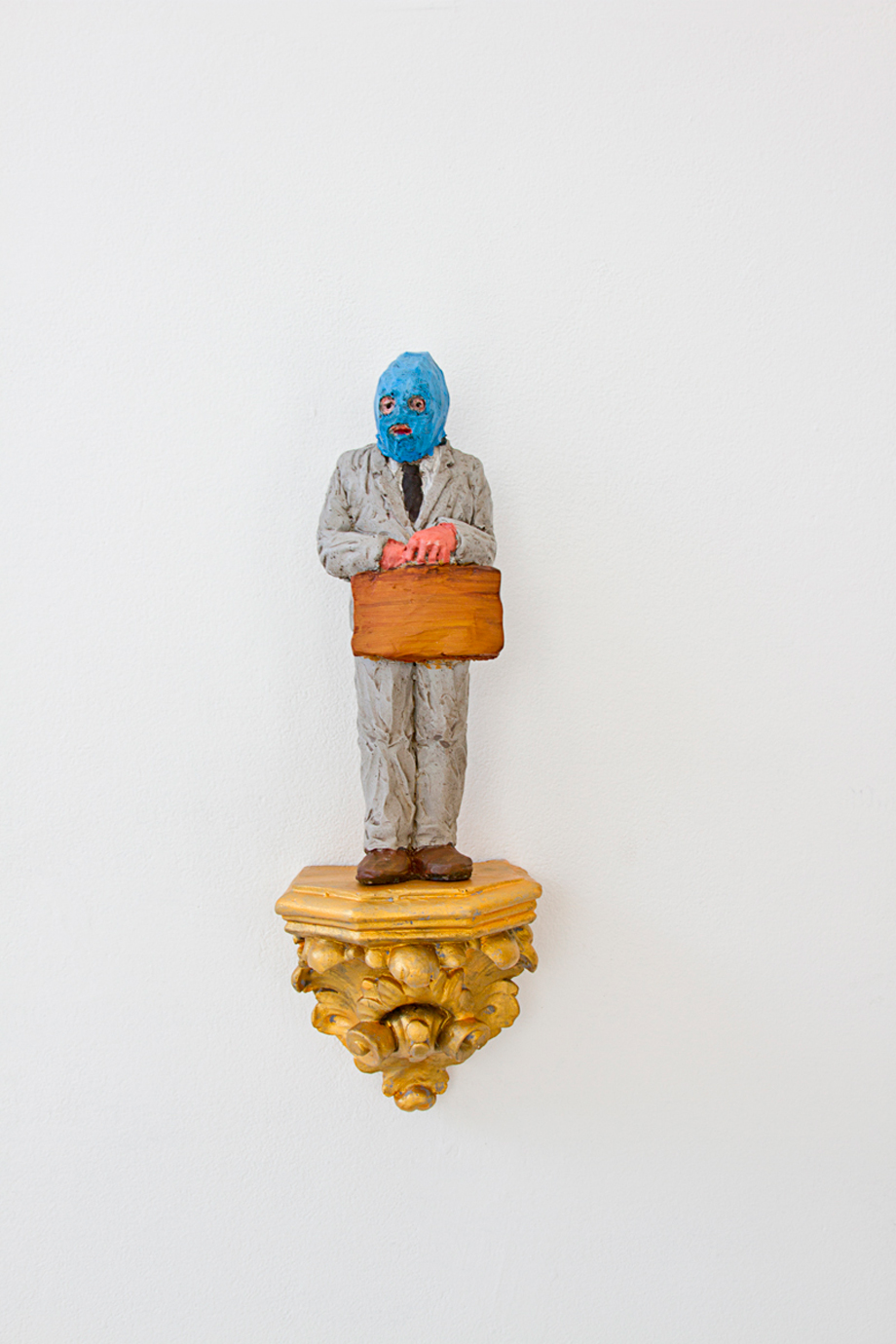 """business man"" Polyurethane resin. 27 x 9 X 8CM. 2017."